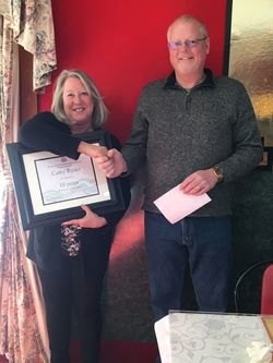 ten years of service - cathy ryder